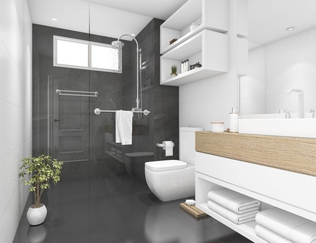 3d-rendering-black-bathroom-with-shower-toilet